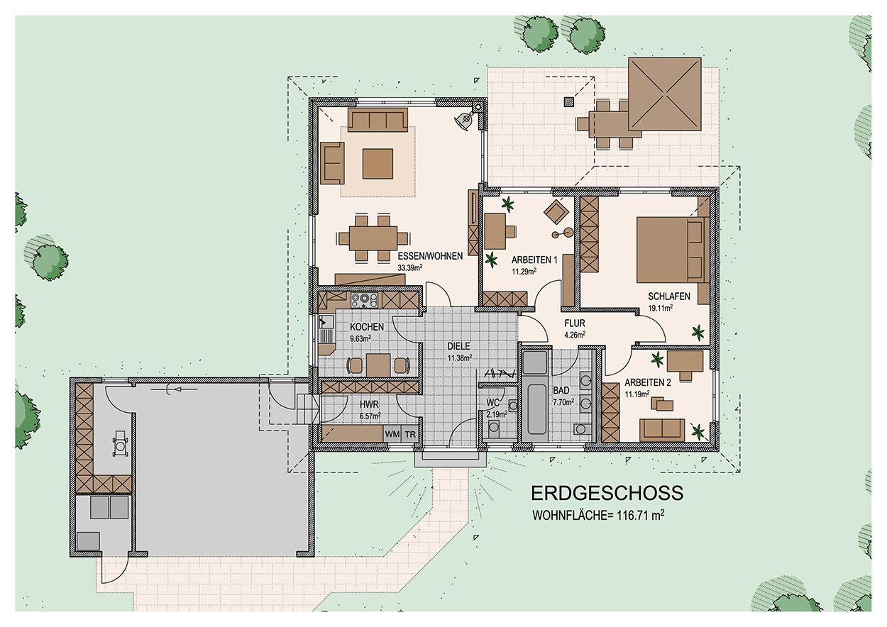 dehrendorf wendt eingeschossig b4. Black Bedroom Furniture Sets. Home Design Ideas